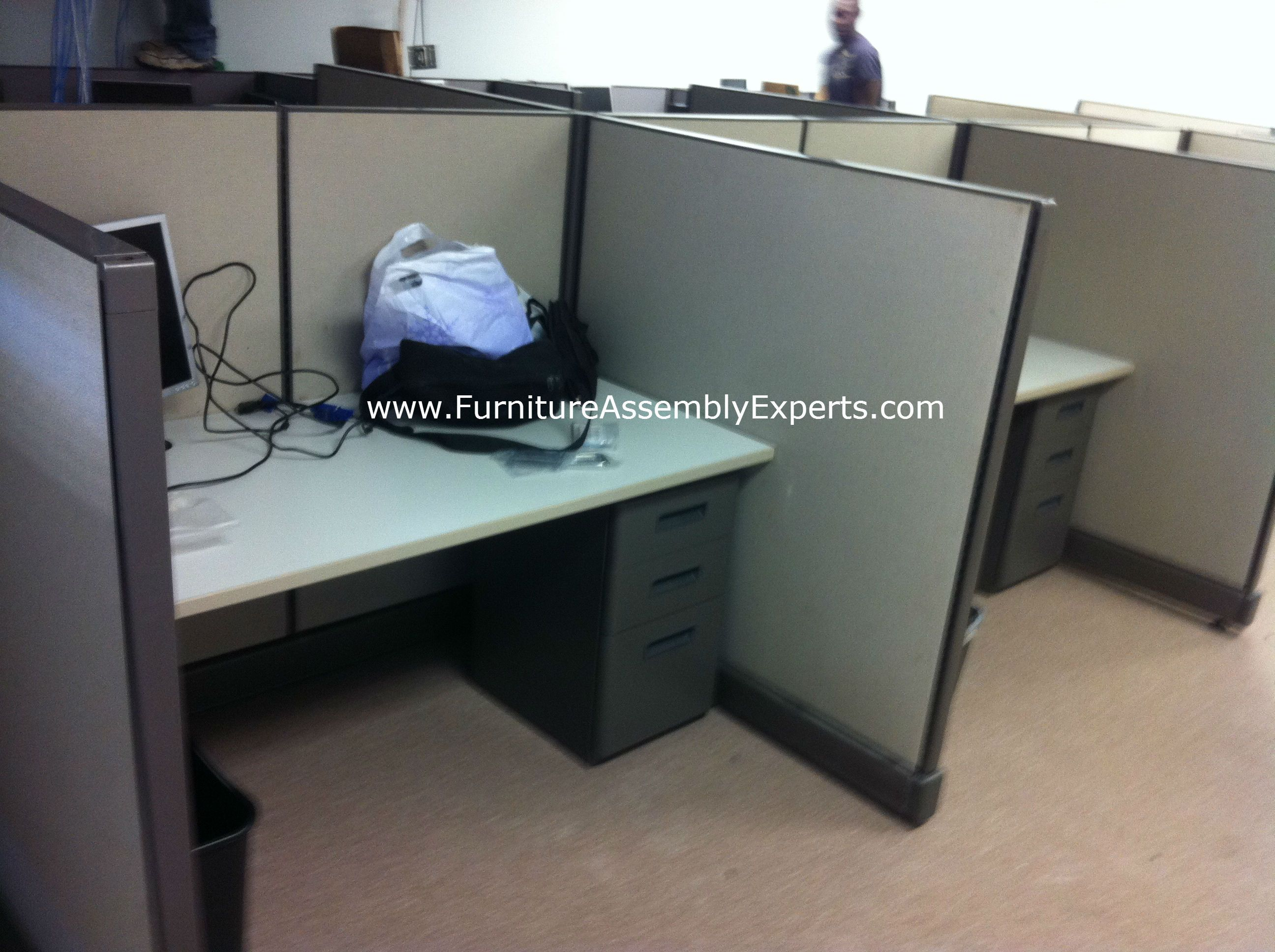 used office cubicle assembled in arlington vafurniture