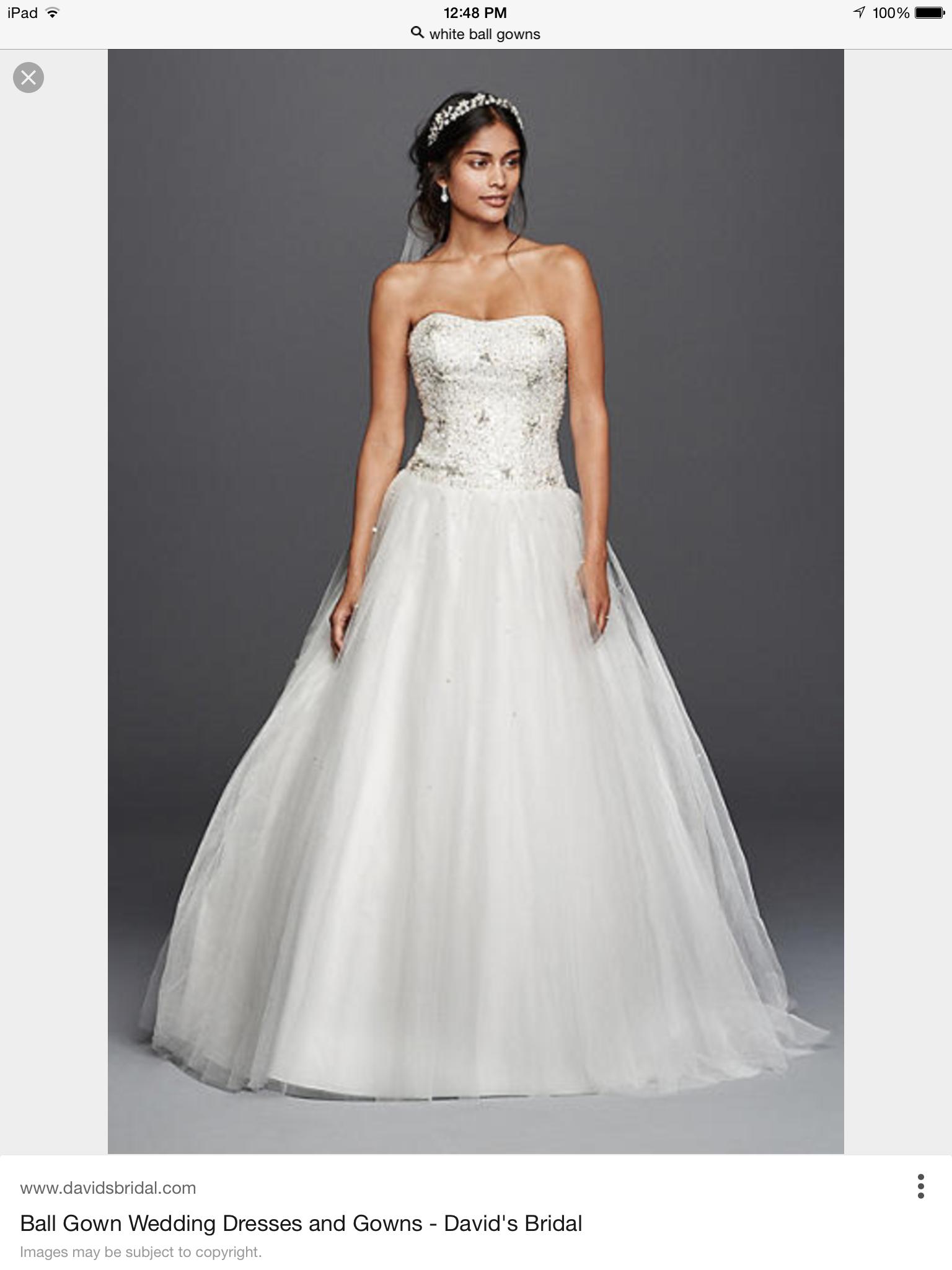 White quinceanera dress at David\'s Bridal | Quinceañera | Pinterest ...
