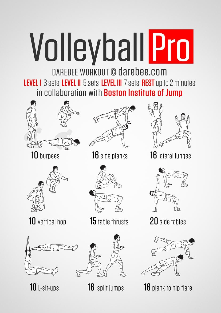 Volleyball Pro Workout Volleyball Workouts Coaching Volleyball Volleyball Training