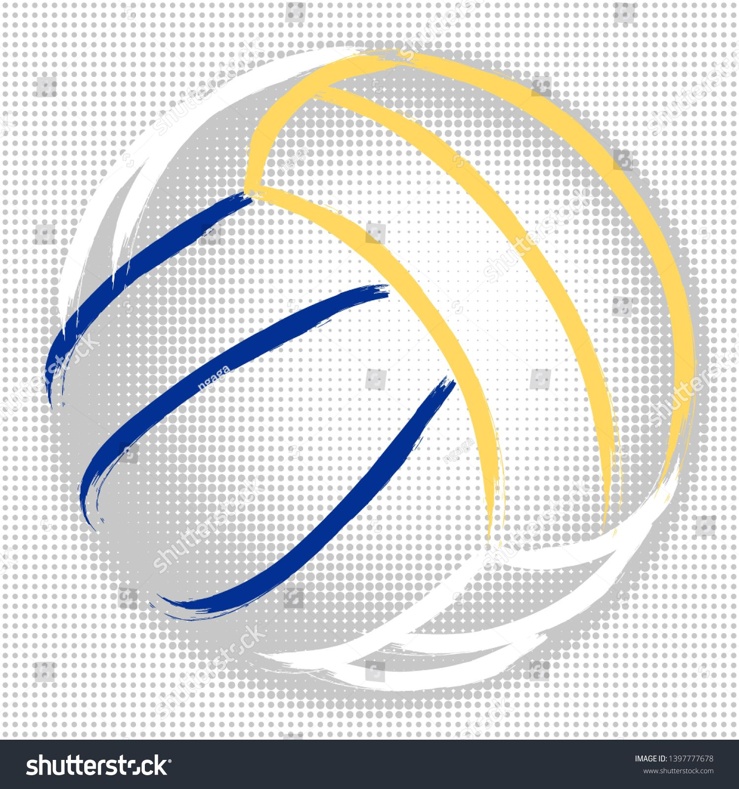 Stylized Illustration Hand Drawing Of A Volleyball With A Halftone Background Sport Vector Ad Sponsored Hand Drawing How To Draw Hands Halftone Stylized