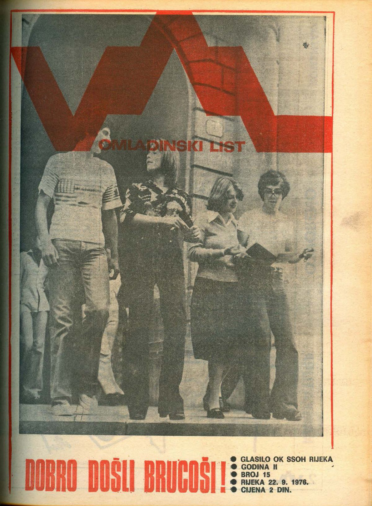 Art color rijeka - Val Youth Magazine Omladinski List Rijeka 1976