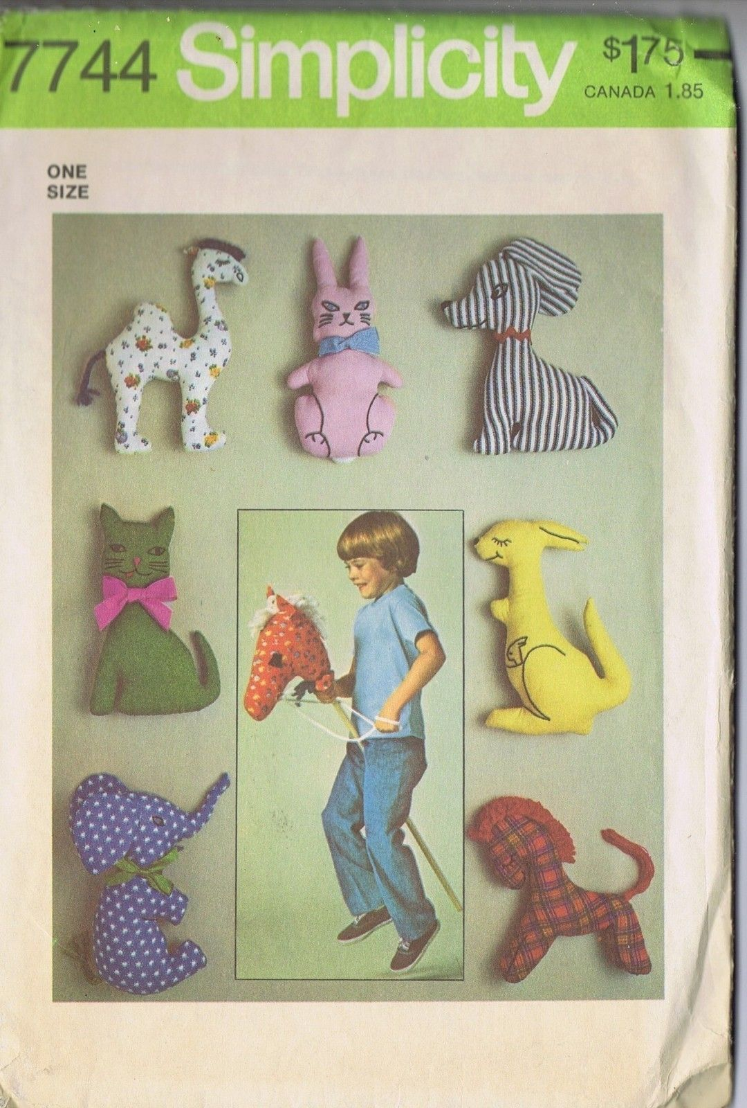 Stuffed toys sewing pattern 7744 simplicity hobby horse rabbit stuffed toys sewing pattern 7744 simplicity hobby horse rabbit elephant kangaroo ebay jeuxipadfo Choice Image
