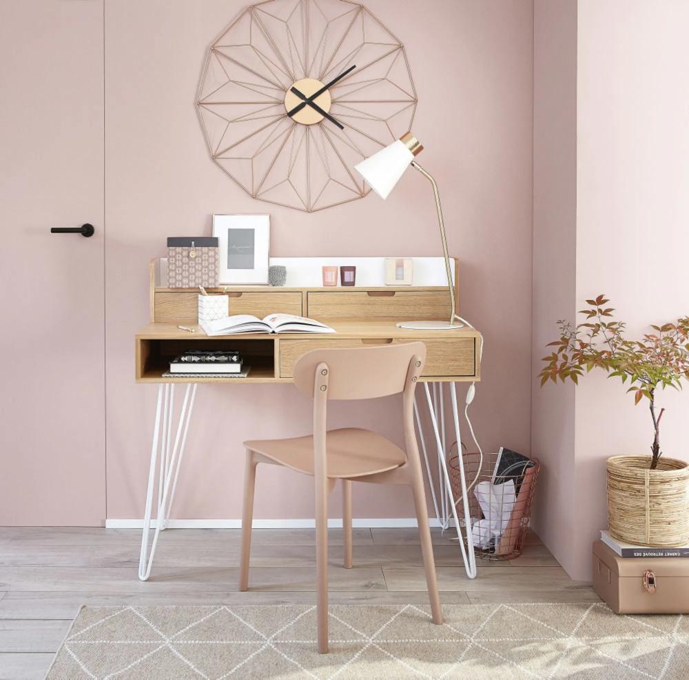 Attuale e funzionale, calda e avvolgente: Copper Metal Wire Clock D80 Maisons Du Monde Bar Set Furniture Home Office Design Furniture