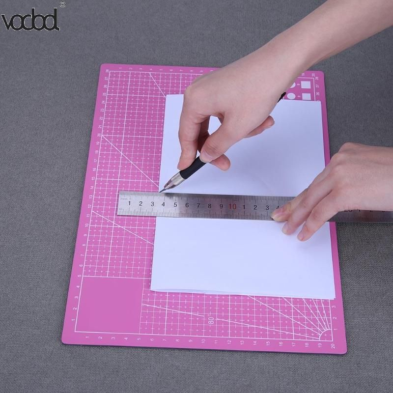 A4 Pvc Self Healing Cutting Mat Fabric Leather Paper Craft Diy Tools Self Healing Double Sided Healing Cutting Mat Board New Paper Crafts Diy Crafts