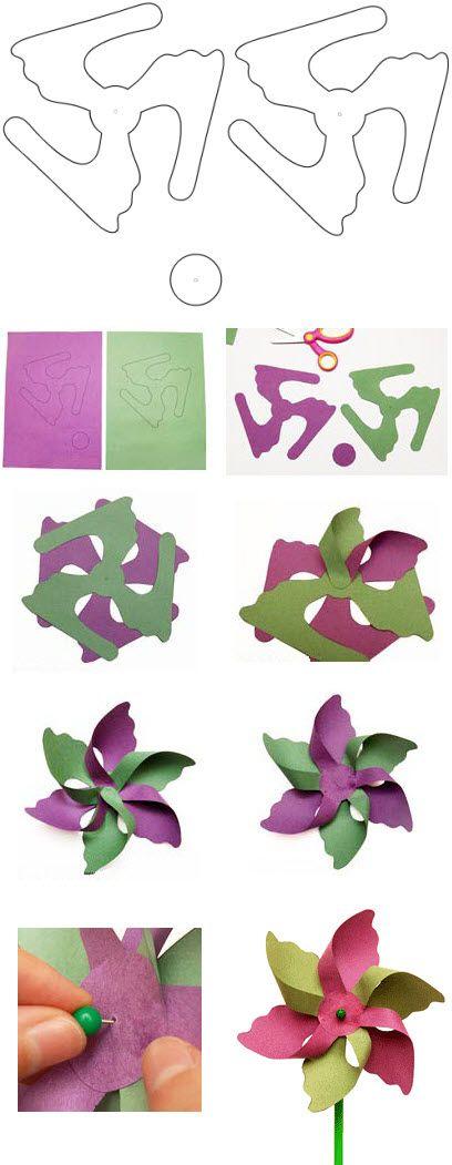 Fabriquer Un Moulin A Vent En Papier Moulins A Vent De Papier Moulin A Vent Art Origami