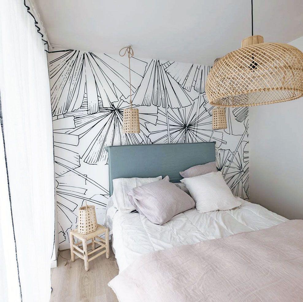 Papier Peint Pour Faire Tete De Lit tête de lit en papier peint : décor panoramique tropical