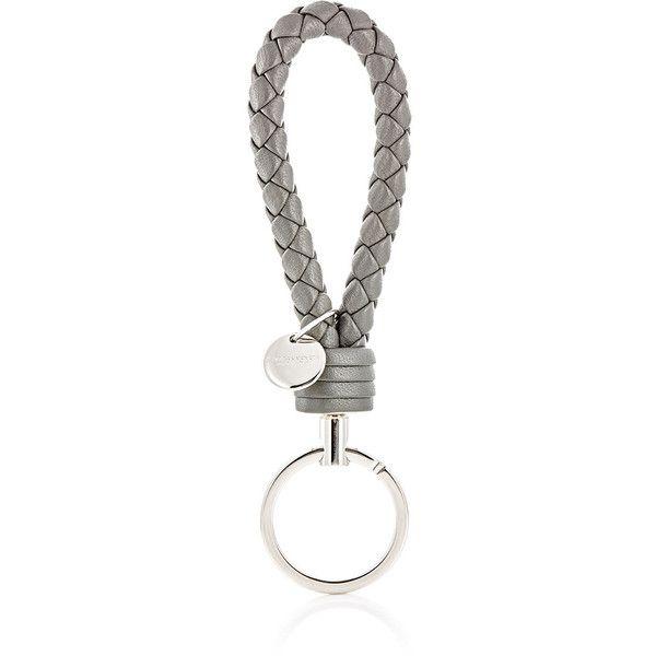 Bottega Veneta Mens Intrecciato Leather Key Ring tffV39