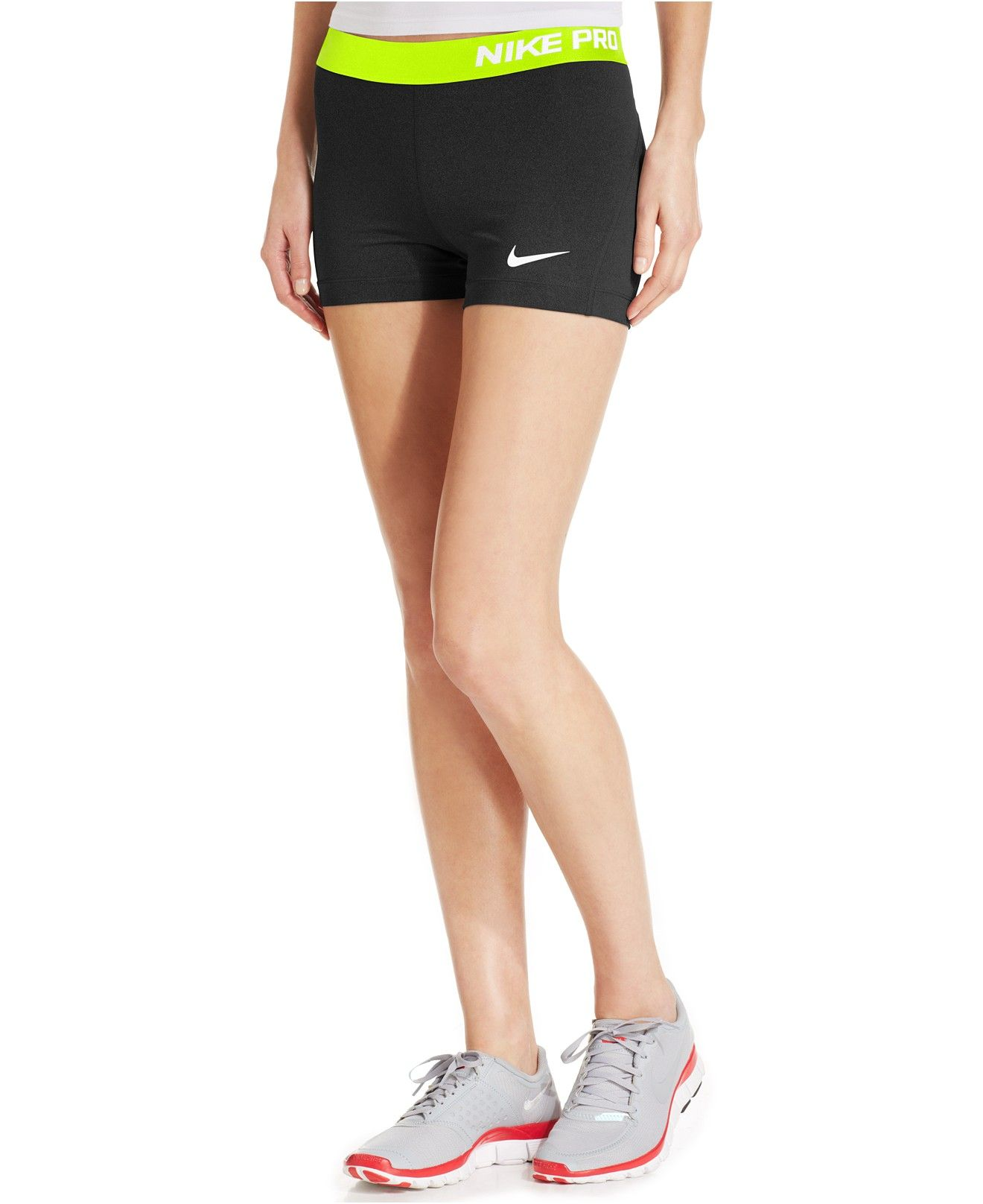 a87a190c Nike Pro Compression Shorts, 3 inches - Shorts - Women - Macy's ...
