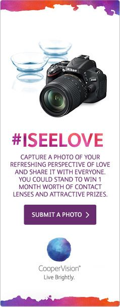 #ISeeLove  CooperVision actie van onze collega's in Singapore!