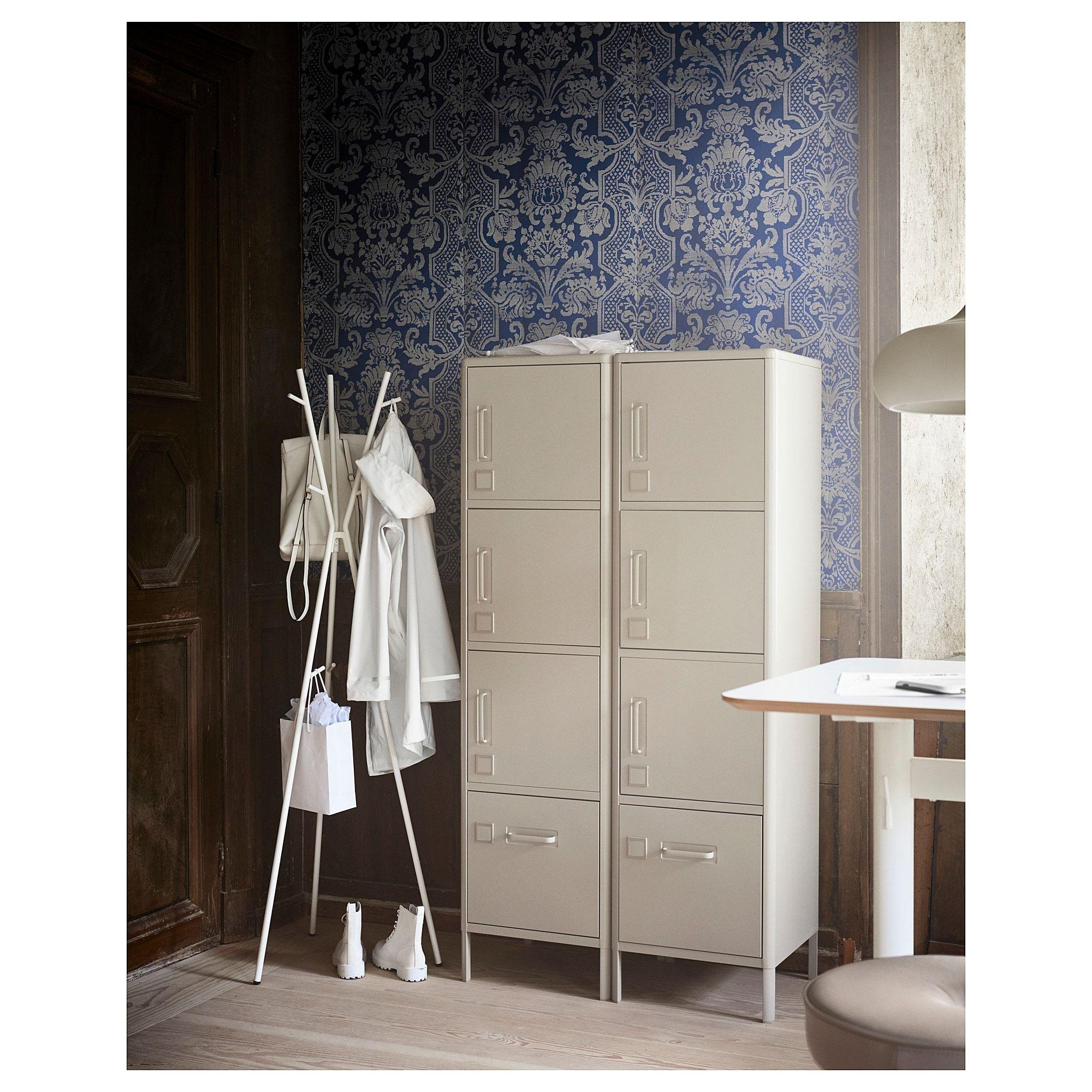 Ikea Idasen Beige High Cabinet With Smart Lock In 2019