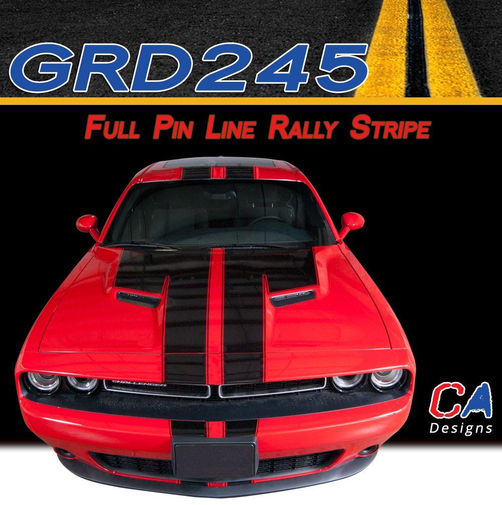 2015-2018 Dodge Challenger Full Pin Line Rally Vinyl