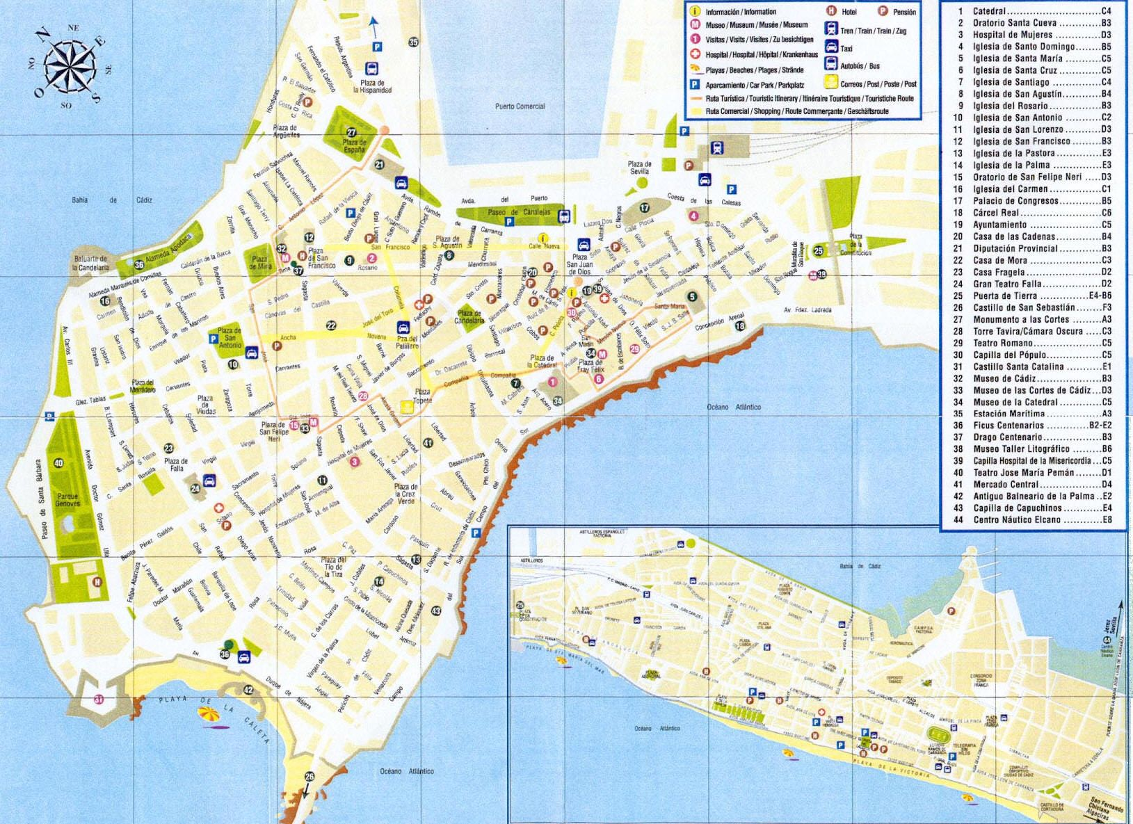 Cartina Mappa Spagna.Mappa Cadice Cartina Di Cadice In Spagna Cadice Mappa Spagna