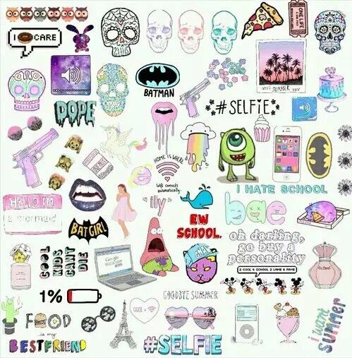 Tumblr Collage Cute Stickers Aesthetic Stickers Print Stickers