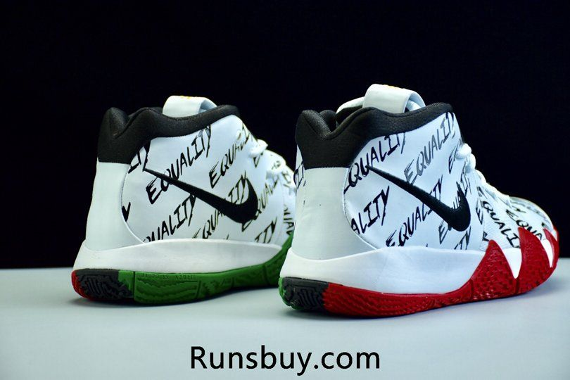10787a90763e Nike Kyrie Irving 4 Basketball Shoes BHM White Red Green
