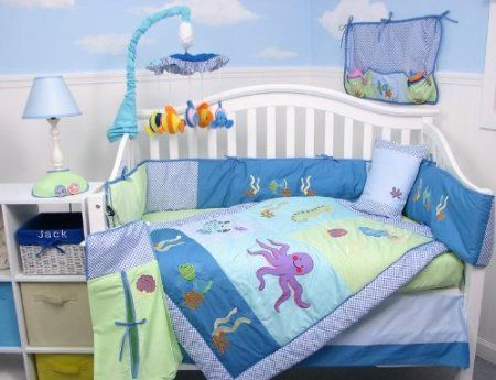 Soho Deep Sea Aquarium Crib Bedding Collection