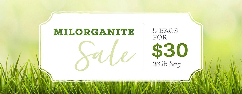 Milorganite Sale: 5 bags for $30