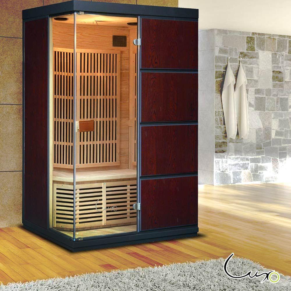 Buy luxo melko 2 person carbon fibre infrared sauna online