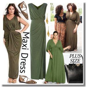 Hot Plus Size Trend: Maxi Dress Color