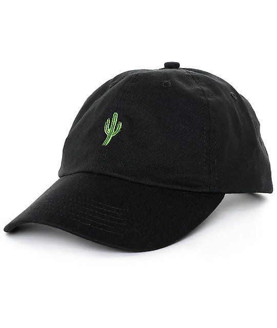 Protect your face from the blistering sun this season with this Solstice  Cactus black baseball hat from Empyre. A great fitting hat d11da681fbca