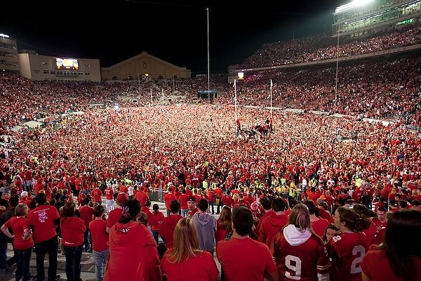 Upset city! The Badgers took down #1 Ohio State 31-18 on 10/16/10.