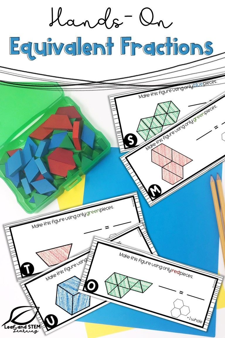 Equivalent Fractions Hands On Task Cards Fractions Task Cards