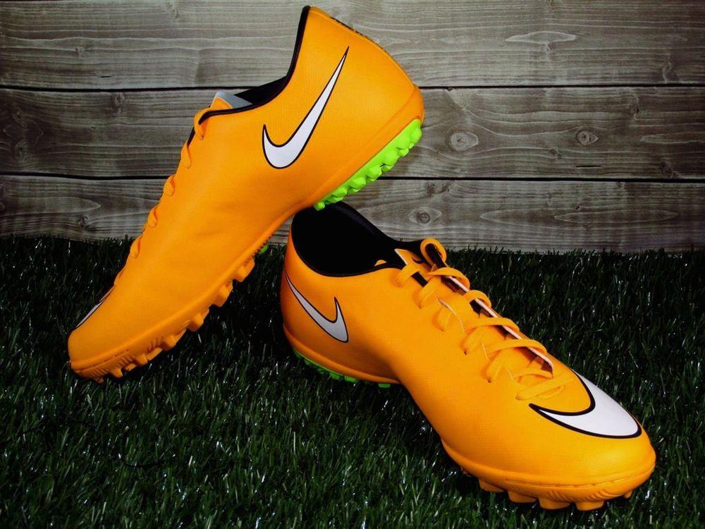 Nike Mercurial Victory V TF Turf Soccer Shoes Mens Sizes Orange/White  651646-800