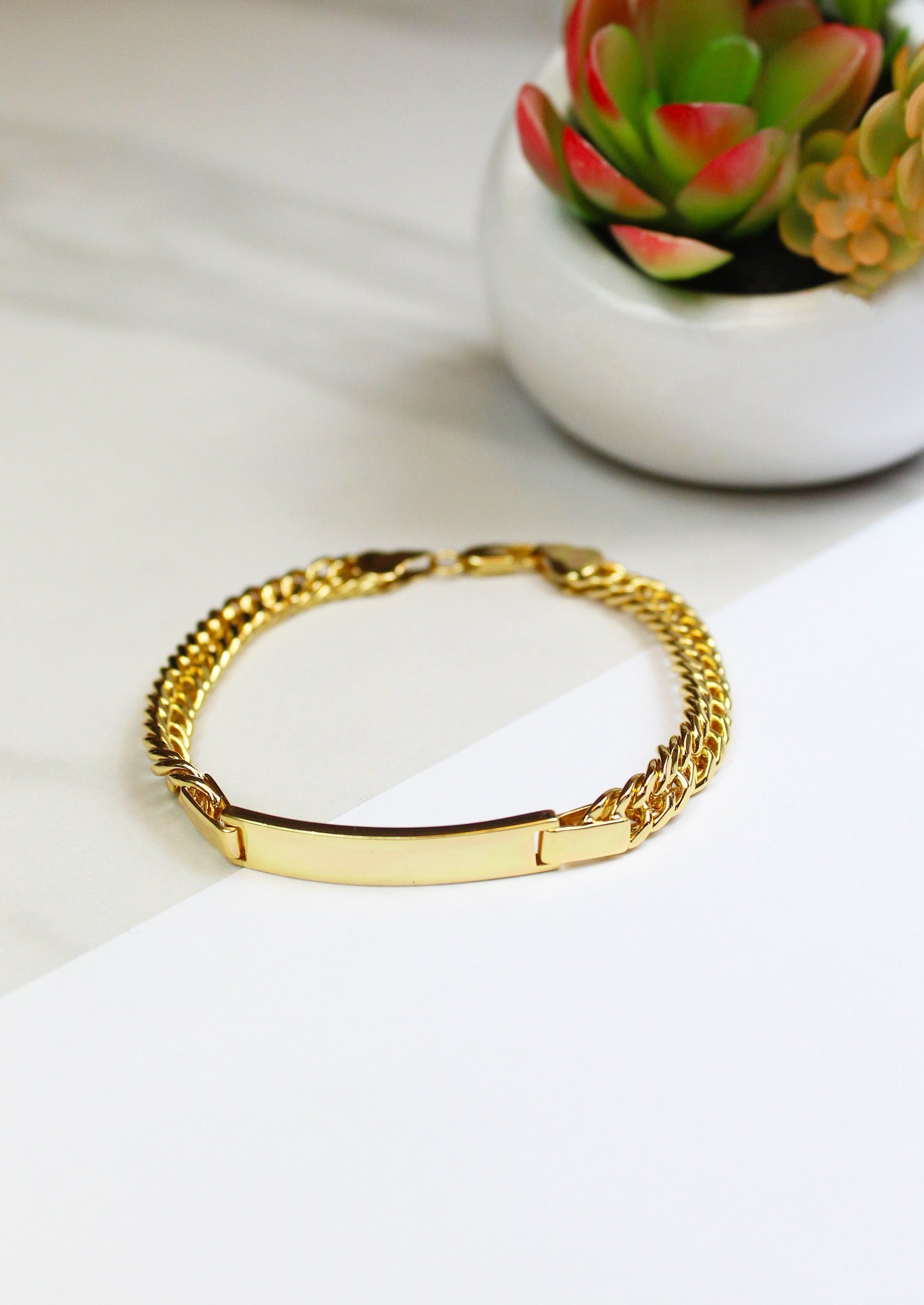 Jules Smith Ice Queen Collection Veronica Bracelet A Classic Id Bracelet Design With An Elevated Curb Chain M Bracelets Boho Style Jewelry Bracelet Designs