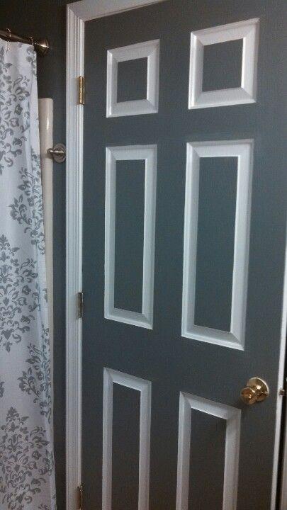 Painted Bathroom Door Same Color As Walls With White Trim Bathroom Doors Painted Bedroom Doors Painted Doors