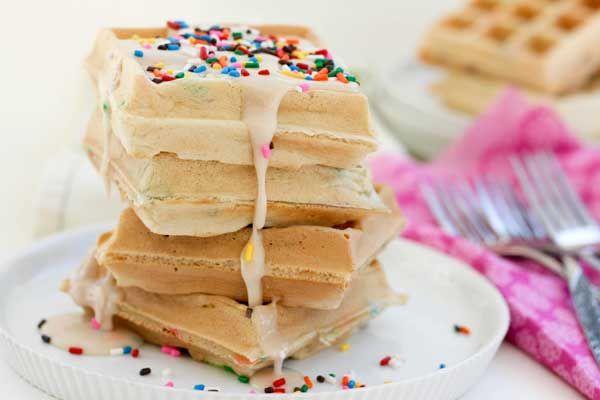 Funfetti Dessert Waffles Recipe