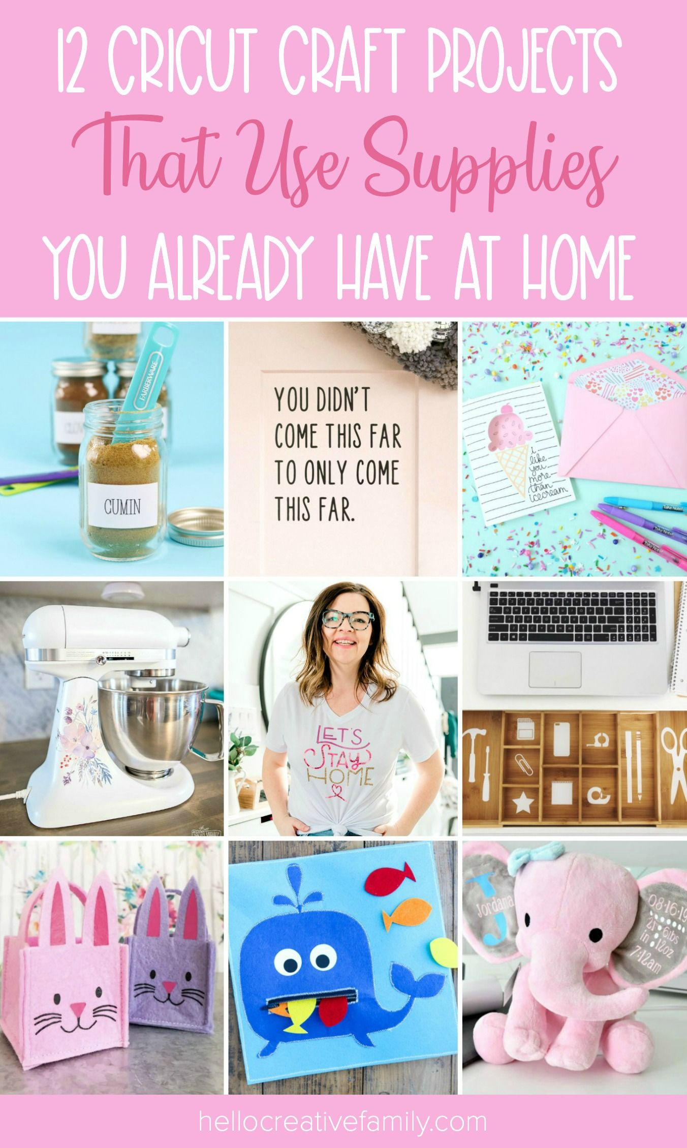 12 Cricut Craft Projects That Use Supplies You Already Have At Home
