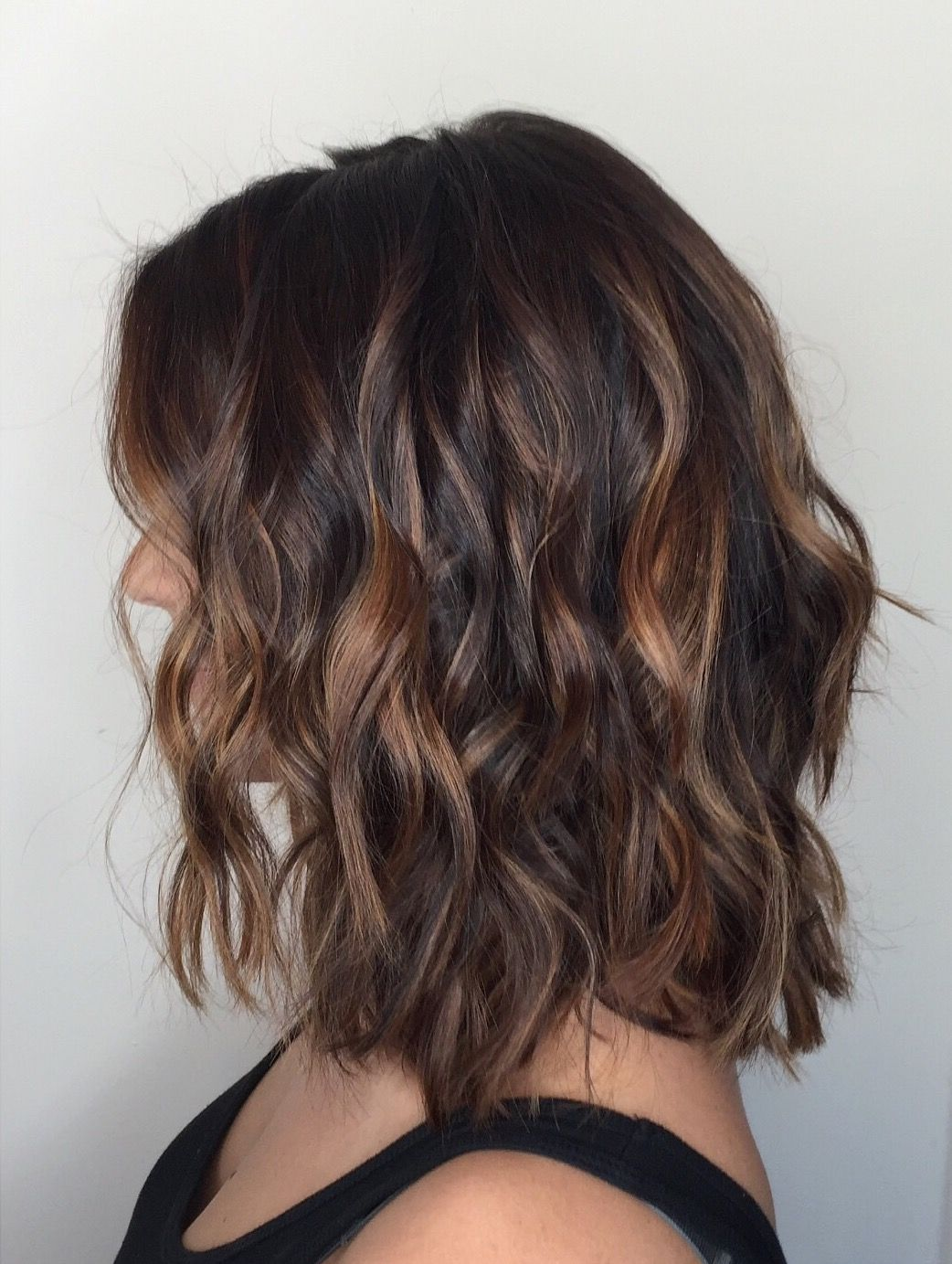 Balayage for short dark hair instagram Hairbyamanda balayage