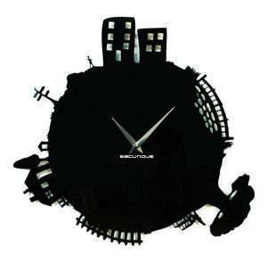 "I think this is awesome.    Wall designer watches, clocks wall,  ""Town"", modern style, wall wall clocks. $84.88, via Etsy."