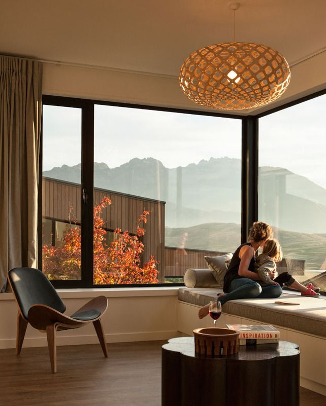 Perfect Window Seat Nook Looking Out To The Remarkble Ranges In New Zealand Featuring Our Kina