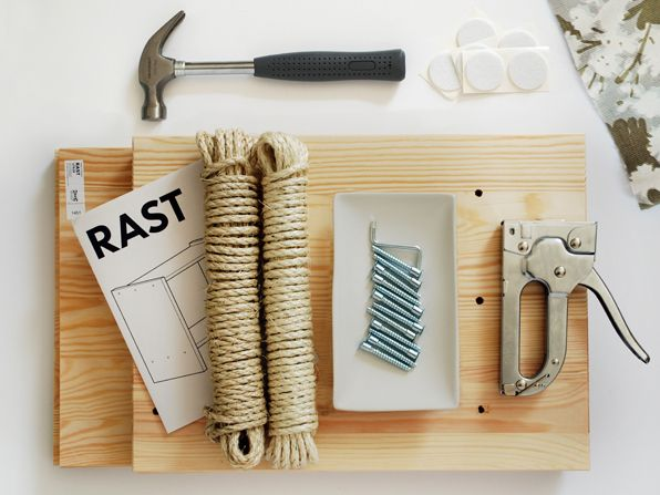 TUTORIAL: DIY MODERN CAT SCRATCHER / IKEA HACK