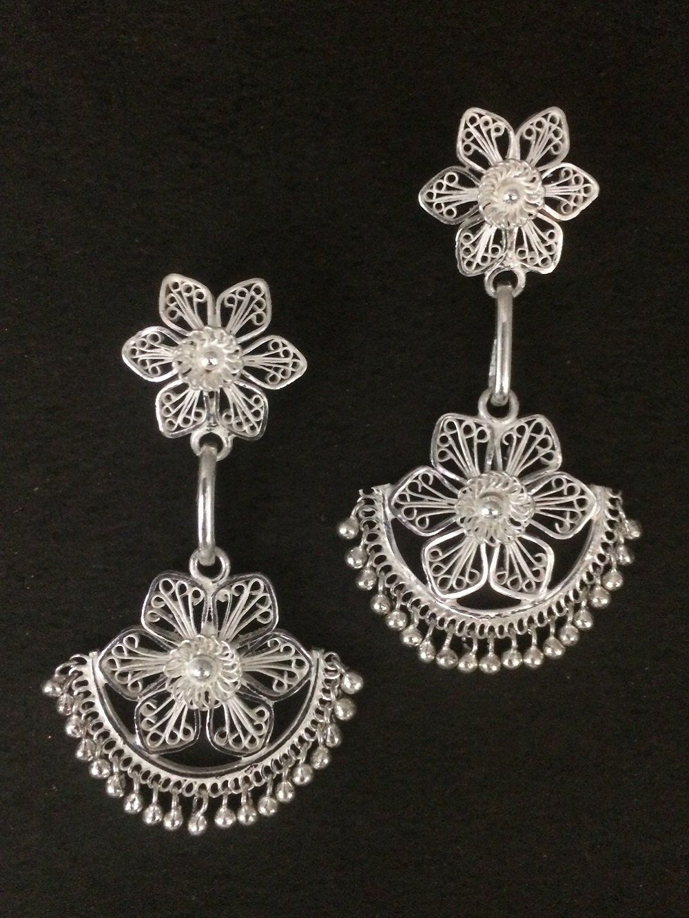 1744f78e1c5ab Traditional Dangles | cheezein | Silver earrings online, Filigree ...