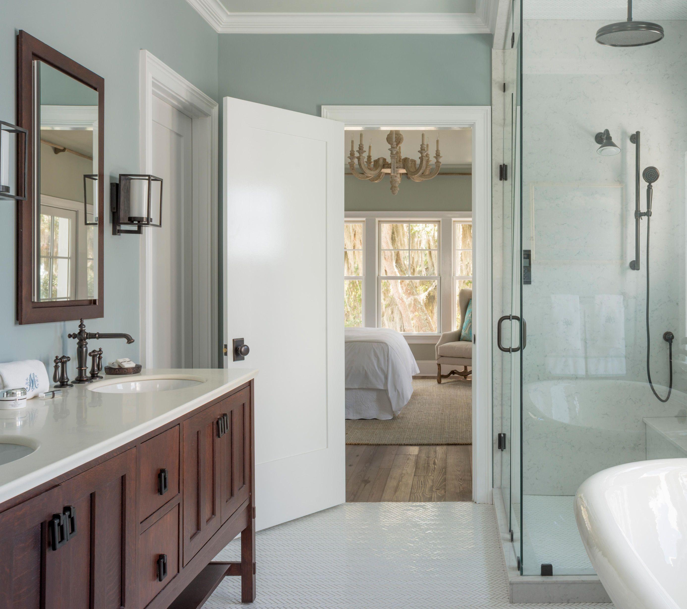 Master bath paint color gray cashmere Bathrooms