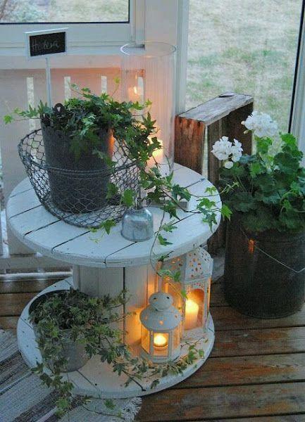 Reciclar rollos de cable decoracion pinterest decoraci n hogar muebles y jardiner a - Rollos adhesivos para muebles ...