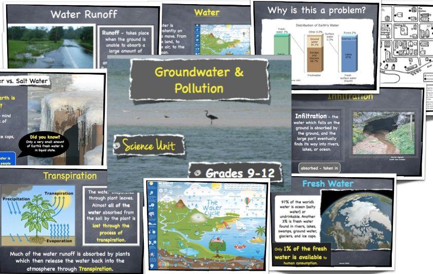Groundwater, Fresh Water & Pollution - Grades 9-12