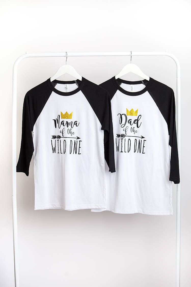 c25f2feb Wild One First Birthday Mom Mama Dad of the Wild One Shirts -Wild One  Birthday Party Where the Wild Things Are Raglan Shirt