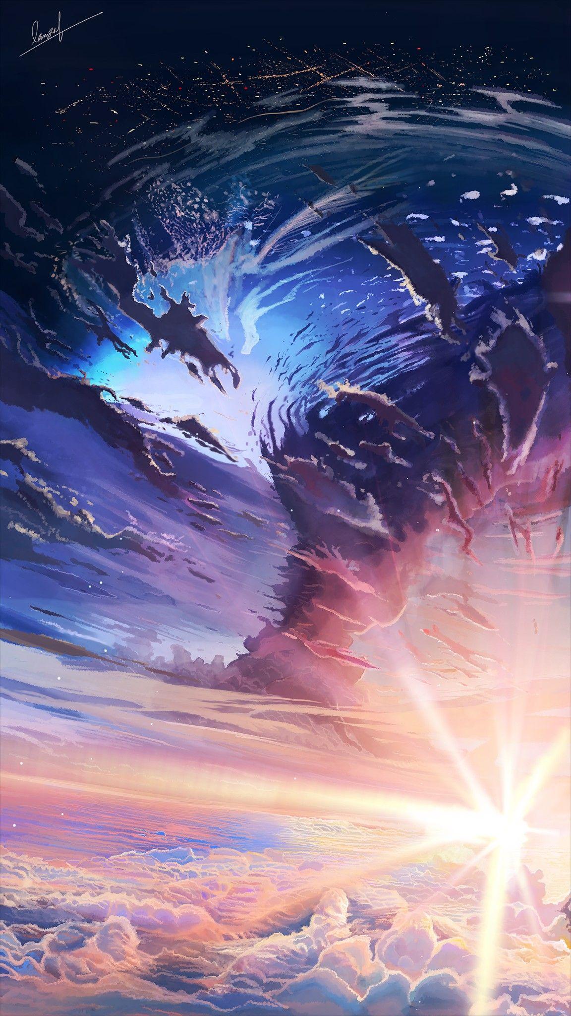 Anime Sky Wallpapers View Beautiful Backgrounds Art Sunset Animewallpapers K Fantasy Art Landscapes Anime Backgrounds Wallpapers Anime Scenery