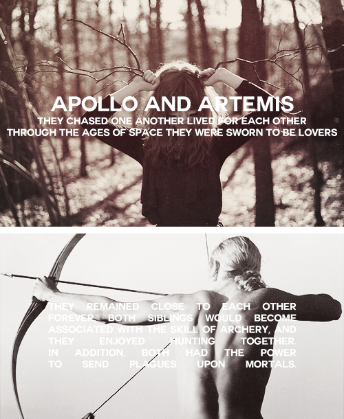 Apollo, the God of Solar Light and Civilization, and Artemis, the