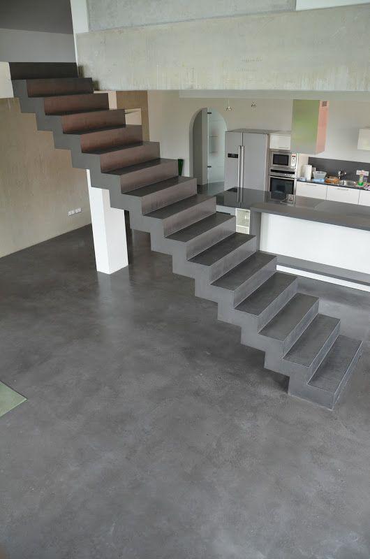 beton cire oberfl chen in beton look oktober 2012 houses living pinterest beton cire. Black Bedroom Furniture Sets. Home Design Ideas