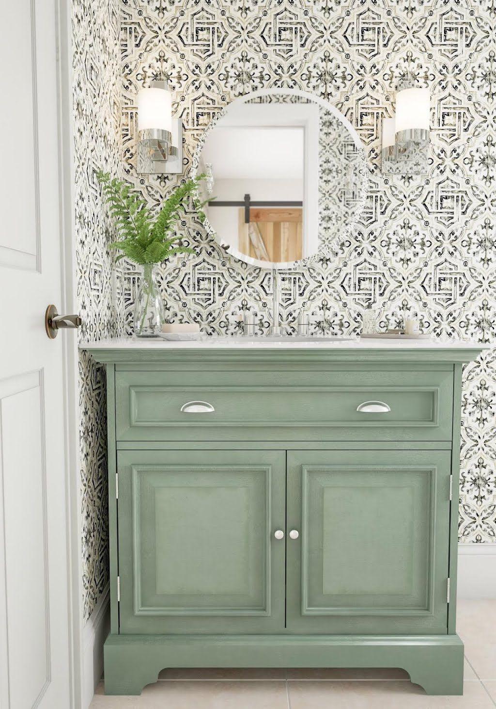 Jade Green Corner Vanity Bathroom The Home Depot