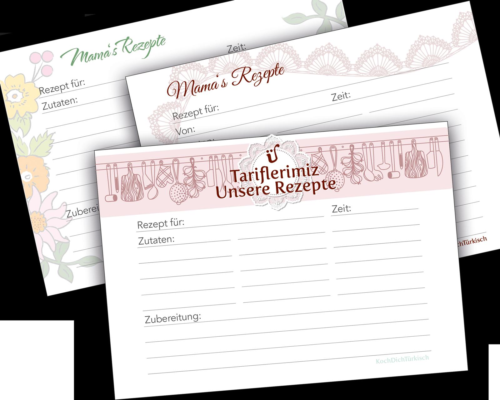 Rezepte für die Nachwelt festhalten & Rezeptkarten free download ...