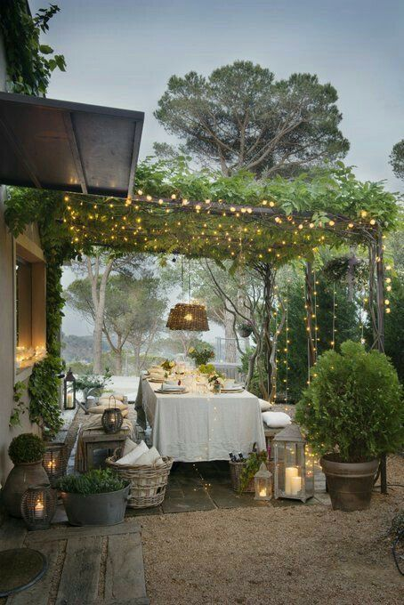 Photo of Seating in the garden – terrace with pergola #garden #pergola # seating …