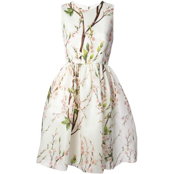 DOLCE & GABBANA floral print dress found on Polyvore