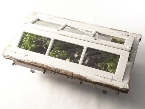 Using Recycled Furniture As Planters - My Grandpa used to do this!  He was ahead of his time :-)