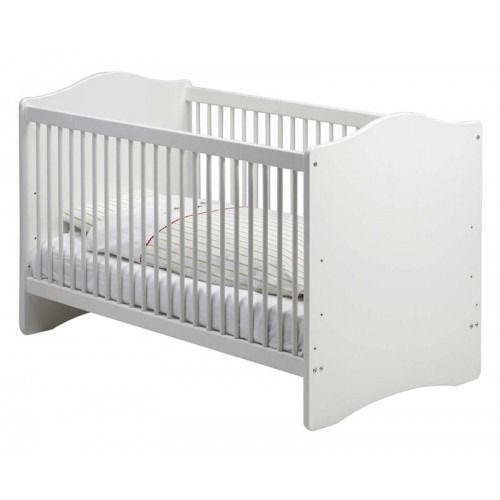 Steens For Kids Cotbed In White Steens For Kids Spacious Cot