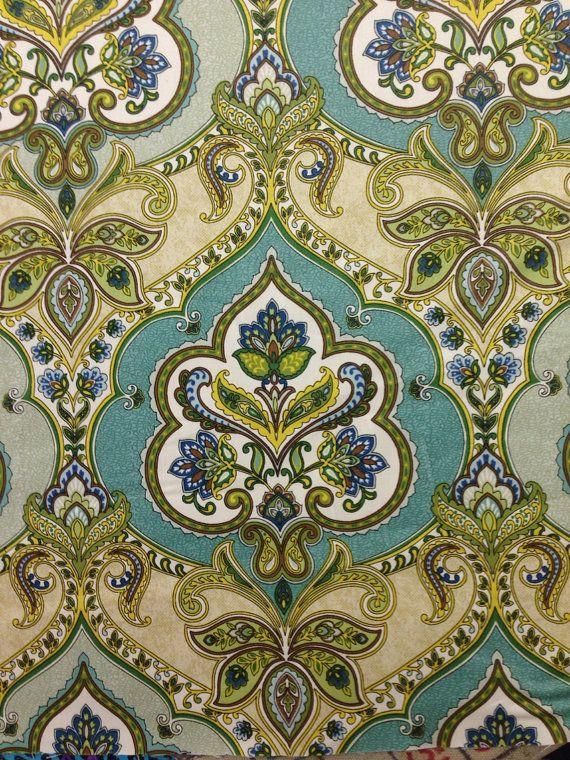 Brilliant Modern Moroccan Damask Lilly Pad Damask Fabric Drapery Interior Design Ideas Inamawefileorg