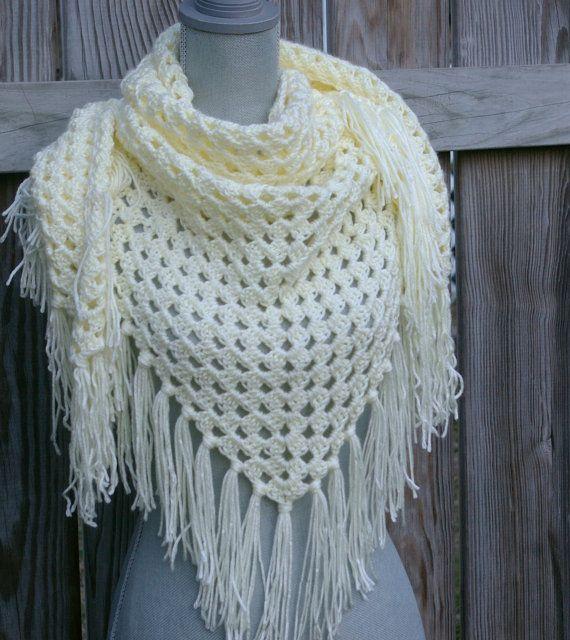 Shawl Crochet PATTERN PDF Triangle Scarf | bufandas tejidas ...